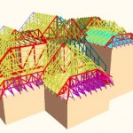 A 3D View of Roof Truss Design